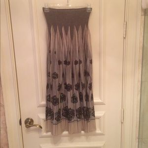 Dresses & Skirts - NWOT Pewter & Black Long Skirt.  One Size Fits All